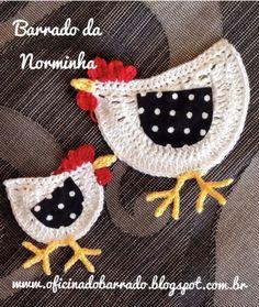 Ponto Preso1: Croche - minha outra GALINHA com seu PONTINHO... Crochet Applique Patterns Free, Easter Crochet Patterns, Crochet Mandala Pattern, Crochet Lace Edging, Crochet Squares, Love Crochet, Diy Crochet, Crochet Stitches, Crochet Hats
