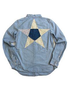 KAPITAL star applique denim shirt