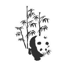 Panda+Tattoo+Designs | Wandtattoo - Panda
