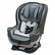 The Graco Platinum Convertible Car Seat conveniently transitions from an infant car seat to toddler seat for extended use. Featuring EZ Tight LATCH, convertible design allows secure, simple installation in just 3 easy steps.