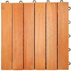 VIFAH V169 FSC Eucalyptus Six-Slat Deck Tiles, 10-Pack -- You can get more details by clicking on the image.
