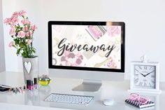 """21.5"""" iMac and Kate Spade Giveaway     How would you like to win these goodies? I do!!    We have teamed up with our Boutique friends across the country!   It's easy to enter. Just go to https://gleam.io/MhPeI/215-imac-kate-spade-pinterest-giveaway to enter.  Boom...done!!  Good Luck!  This giveaway is in no way sponsored or endorsed by Pinterest."""