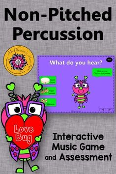 Aurally identifying non-pitched percussion instruments with your elementary music class is fun with this interactive music game! Get ready for the giggles!! Excellent Orff and Kodaly resource! Works great on Smartboard too!