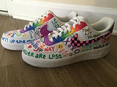"""Find the artist in you, and create a unique, one-of-a-kind product! Be inspired by your favorite TV show, pop art, interests, college, camp and more! CUSTOMIZATION When you add your item to your cart, please write in """"Notes To Seller"""" your vision for the shoes. If you want an"""