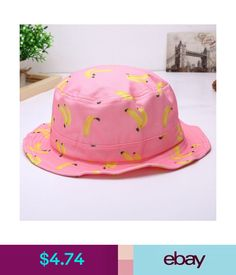 70e96a58 $4.74 - Summer Trendy Cute Women Girl Sweet Banana Printed Outdoor Dad  Bucket Hat Caps #ebay #Fashion