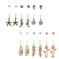 Beach summer earring Collection   Claire's
