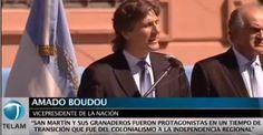 Boudou comparó a Néstor y Cristina Kirchner con San Martín