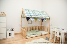 Full/Double Kleinkind-Size-Bett Frame Bett von SweetHOMEfromwood