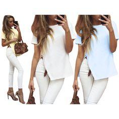 Kobieca bluzka z rozcięciem dostępna już dziś w naszym sklepie internetowym Pakuten.pl Odwiedź nasz sklep i sprawdź najciekawsze produkty w najniższych cenach!