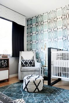 Tour a Bold and Eclectic Modern Nursery via @domainehome