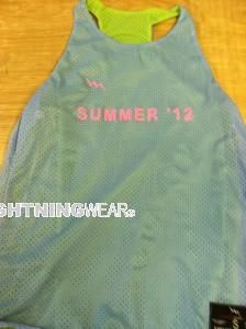 nice Summer '12 Racerback Pinnies - Summer Reversible Jerseys for Womens - Lakeville Connecticut Pinnies