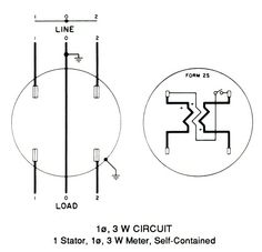 Wiring Diagram for 1 phase 3 wire meter circuit