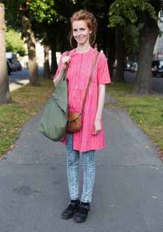 Liisa - Hel Looks - Street Style from Helsinki    (I actually saw her that day! And admired the outfit, of course!)