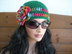 Womens Hat Crochet Hat Winter Fashion ♥ by creationsbyellyn on Etsy, $18.50