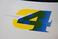 New Year Card. 2014. Letterpress