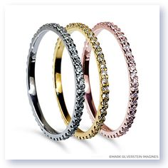 Uniquely sophisticated yet classic and refined, this simple eternity band features natural light color diamonds pavé set in polished 18K gold.  Thin and delicate the piece is built to last. http://www.msimagines.com/product-p/1017-18kr-p.htm