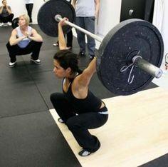 squatting girl