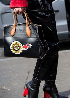 68a9e1eacf9f Best Paris Fashion Week Street Style Fall 17 | StyleCaster Red Fashion,  Grunge Fashion,