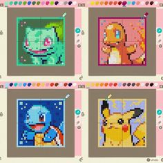 Starter Squad: Bulby Boi, Flame Friend, Squirt Turt and Zap Mouse. I'll post QR codes when I unlock Able Sisters! Animal Crossing Funny, Animal Crossing Guide, Animal Crossing Memes, Animal Crossing Villagers, Animal Crossing Qr Codes Clothes, Pokemon, Ac New Leaf, Motifs Animal, Victorian Dolls