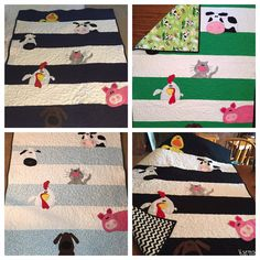 Farm Animal Baby Quilt 140.00