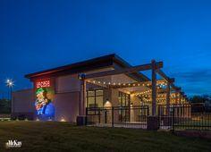 La Casa West Pizzeria - Outdoor String Lighting Design by McKay Landscape Lighting Omaha, Nebraska