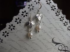 Elegant freshwater pearl earrings by BijouxdeBrigitte on Etsy