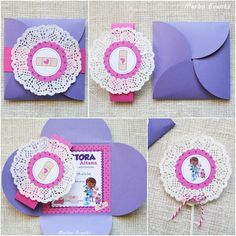 Invitaciones Cumpleaños Doctora Juguetes. www.merboevents.com 4th Birthday Parties, 3rd Birthday, Doc Mcstuffins Birthday, Minion Party, Ideas Para Fiestas, Childrens Party, Invitation Cards, Birthday Invitations, Projects To Try