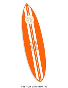 Add this decorative surfboard inspired by fashion icon Hermes, to your home decor to add a modern and unique look. Surfboard Decor, Hermes Orange, Oliver Gal, Surfs Up, Home Buying, Planner Stickers, Style Icons, Summertime, Surfing