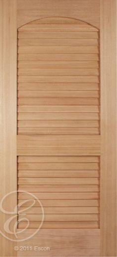 "Pacific Cherry 2 Panel Archtop False Louver Interior/ Exterior Use 2-1/4"" False Louvers [N402-E]"