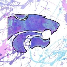 K-State Inspired Abstract Digital Painting Custom by shealeigh