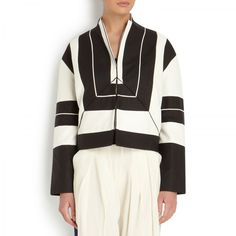 Edeline Lee Cahun silk and woven cotton blend jacket