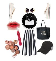 """Untitled #41"" by yundakenanga on Polyvore featuring Alexander Wang, MANGO, Converse, Venus and Stila"