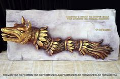 "Dacian Wolf Decoration ""Civilization and history began where the Romanian nation lives today."