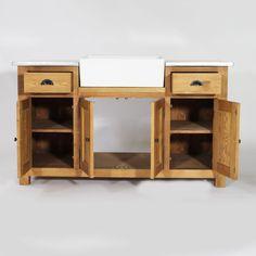 k chenunterschrank aus recyclingholz mit sp le b 90 cm. Black Bedroom Furniture Sets. Home Design Ideas