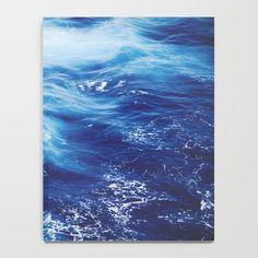 Navy Blue Ocean Wave Notebook by newburydesigns Galaxy Notebook, Ocean Waves, School Supplies, Notebooks, Navy Blue, Water, Outdoor, School Stuff, Gripe Water