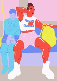 Sara Andreasson illustrates street style and alt femme culture.