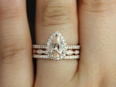 This engagement ring is designed for those who love simple with a slight twist. Pear shape has been growing in popularity due to its unique shape and