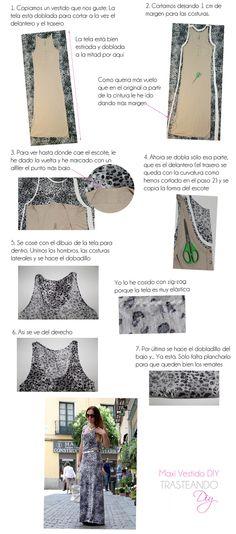 DIY...TUTORIAL MAXI VESTIDO DIY...MAXI DRESS TUTORIAL