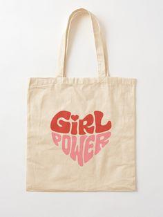 Summer Tote Bags, Diy Tote Bag, Cute Tote Bags, Reusable Tote Bags, Tods Bag, Painted Bags, Printed Tote Bags, Cloth Bags, Girl Power