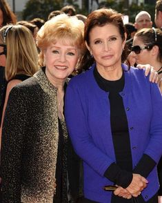 Debbie Reynolds (1932-2016) and Carrie Fisher (1956-2016) (photo 2011)