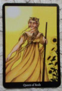 Anna K. Tarot - Queen of Wands - Botok Királynője Tarot kártya - Tarot tanfolyam indul 2018 őszén, részletek a blogon
