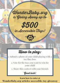 Enter to win up to $500 in accessible toys for blind kids from WonderBaby.org! Contest ends November 11, 2014.