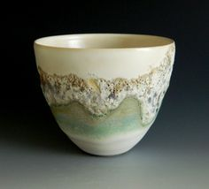 Thrown stoneware with crater/lava glazes : spring