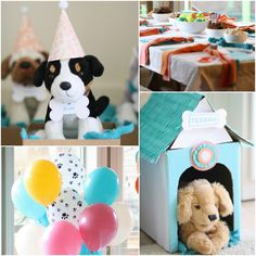 Kids Birthday Party - Adopt a puppy - Free Printables. #kids #party #freeprintables