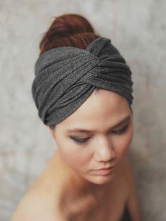 grey turban headband