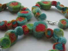 Felted bead bracelets:: homemade jewelry, I think, is the best kind of jewelry!