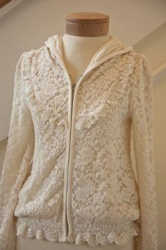 Women's Shabby Chic Lace Hoodie Now In Stock - Womens Boutique Clothing - Cassie's Closet