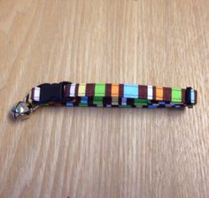 Colorful Brown Striped Cat Collar by DevinsDogDays on Etsy, $12.00