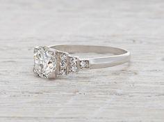 1.05 Carat Art Deco Engagement Ring