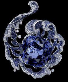 18k+white+and+black+gold+diamonds+sapphire